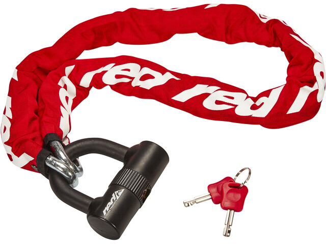Red Cycling Products High Secure Chain Plus Ketjulukko, red